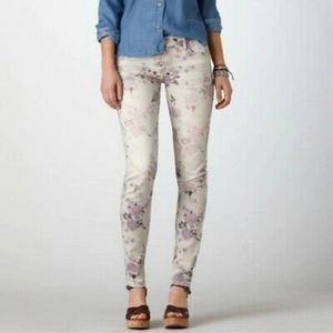 American Eagle floral jeans size 2